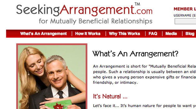 Arrangements dating site